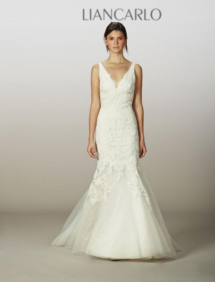Liancarlo wedding dress 5831 pre-owned