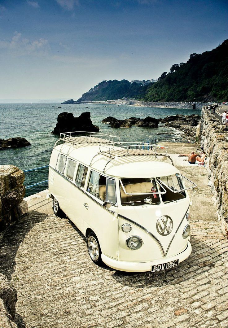 white kombi vw bus ♠  re-pinned by  http://www.wfpblogs.com/category/a-perfect-gentleman/