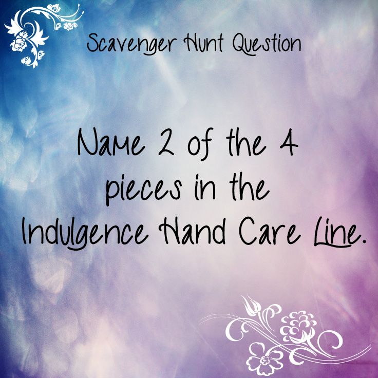 Scavenger Hunt Questions Game. Made by Laira Stewart - lairastewart.jamberrynails.net