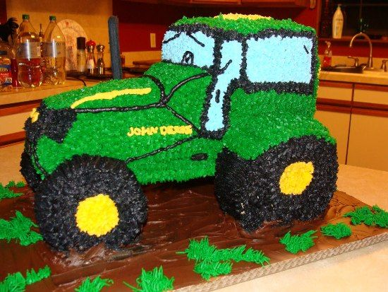 Tractor Birthday Cake Picture