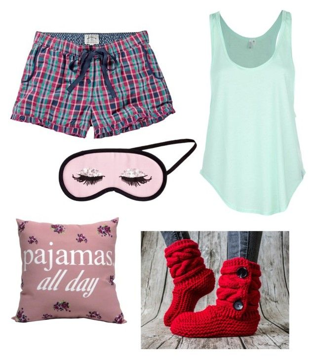 """Pajamas all day"" by janelee7549 on Polyvore"