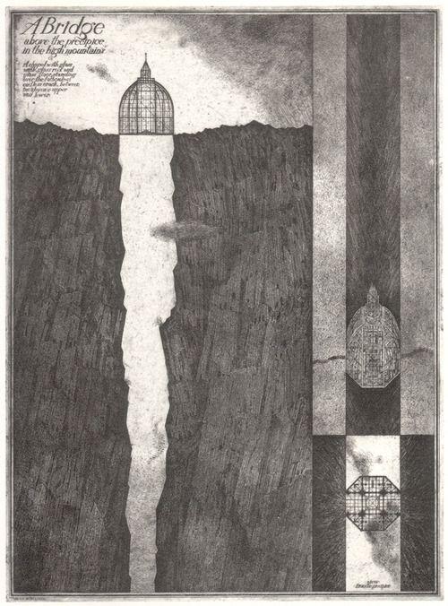 Brodsky & Utkin: A bridge above the precipice in the high mountain. 1987