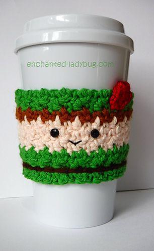 Mejores 521 imágenes de Crochet Coffee Cozy en Pinterest | Hecho a ...