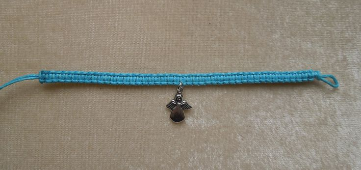 Turquoise Blue or Red cord Bracelet with Silver Angel Charm. Friendship, gift, seasonal, Christmas. Waxed cotton. by CreativelyWell on Etsy