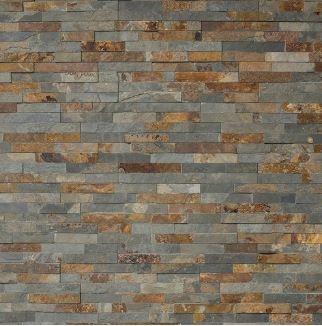 Steenstrip idee bruin-grijs Stone-art brown-grey