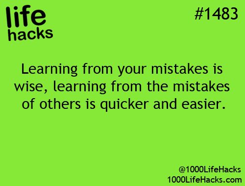 1000 Life Hacks (You can't live long enough to make them all yourself.)