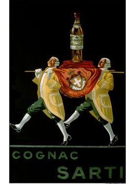 Vintage Cognac Sarti Advertisement