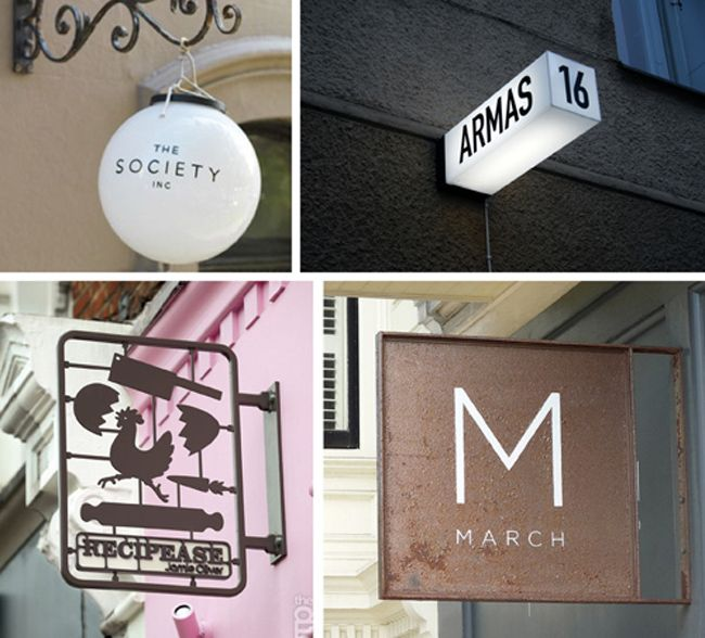 Inspirational signs collected by Chloé, from the blog Plenty of Colour.