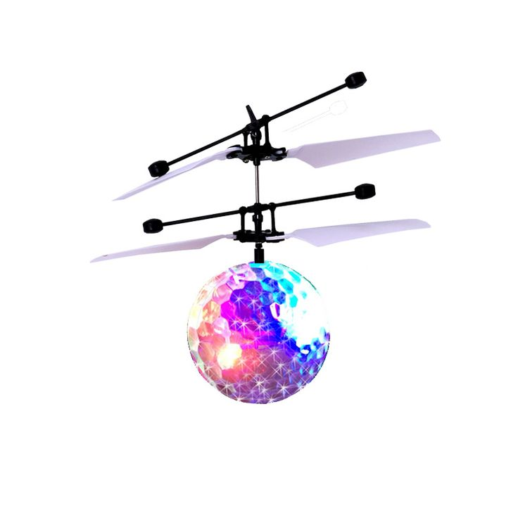 Kids Ball Flying RC Flying Ball Drone Helicopter Ball Built-in Shinning LED Lighting for Kids Toy Crystal Crystal Fligh Ball #Affiliate