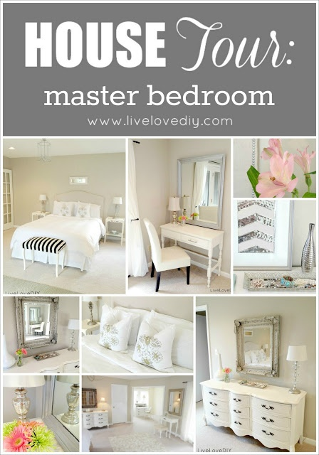 LiveLoveDIY Master Bedroom - tons of easy affordable ideas to decorate your home!