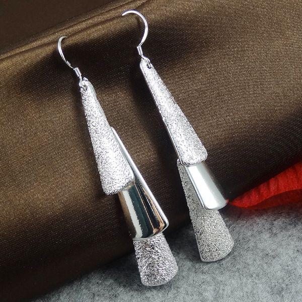 Оптовая продажа украшения для женщин мода геометрическая серебряные серьги E059