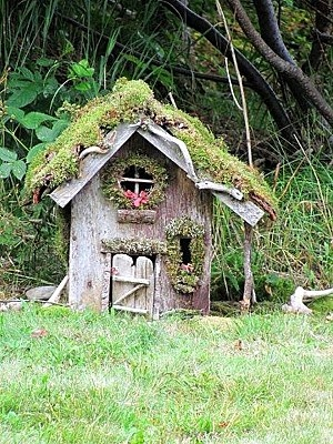 Lopsided fairy house