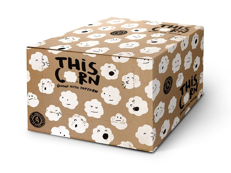 This Corn – Naming, identity & packaging design for gourmet cattle pop corn for The Snackatere by Peter Gregson