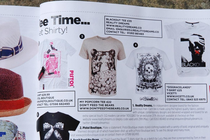'My Popcorn' t-shirt made it into June 2013 issue of GQ.