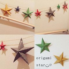 画用紙や折り紙で出来ちゃう!?インテリアのコーディネートが大好きな方、これから楽しみたい方も注目すべし!とっても簡単に立体的な星が作れて、それがまたオシャレなんです♪一つ覚えると大活躍しますので是非覚えてください♡                                                                                                                                                     もっと見る
