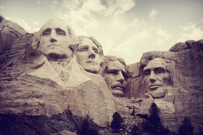 Mt Rushmore---my future husband will one day know that he should surprise me with a nerdy trip here...
