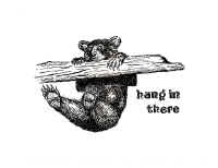 "Good advice from Seattle artist Joey Veltkamp.  (""hang in there"" bear #4, 2011, archival pen on paper)Art Drawing"
