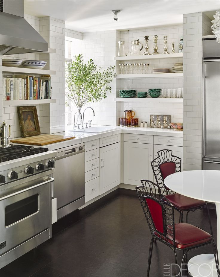 Traditional Kitchen With Extra Shelves  - ELLEDecor.com