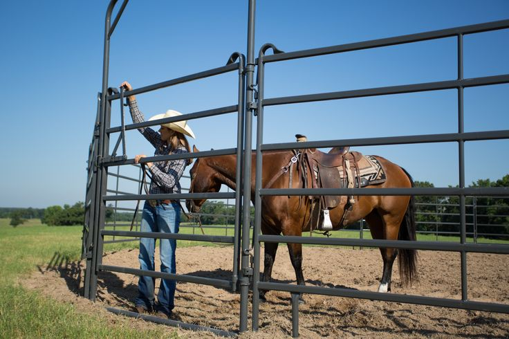 "Designed for use with Preifert's 6' tall Premier Panels, this gate utilizes pin connections and, with 9' clearance, make a great ""ride thru"" gate."