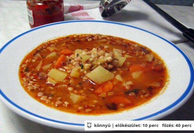 Tarhonyaleves zöldséggel Iluska konyhájából