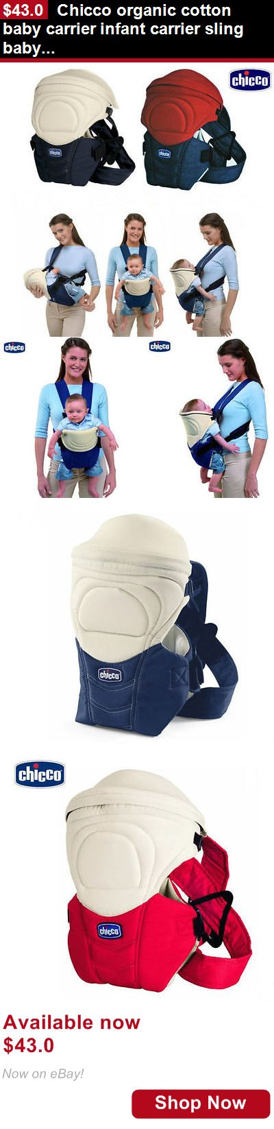 Baby Carriers and Slings and Backpacks: Chicco Organic Cotton Baby Carrier Infant Carrier Sling Baby Suspenders Classic BUY IT NOW ONLY: $43.0