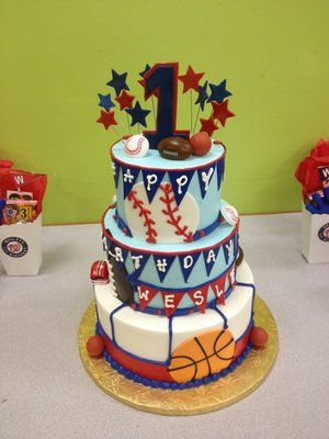 Birthday Cake Ideas For 1 Year Old Boy : Sports birthday cakes, Sports birthday and 1 year olds on ...