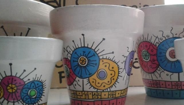 macetas pintadas con bandera argentina - Buscar con Google