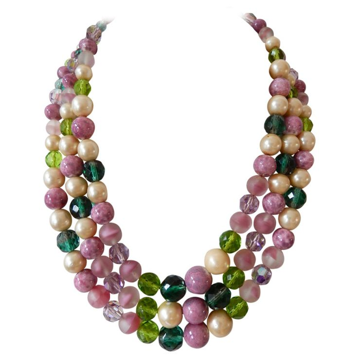 1958 Christian Dior Necklace/Henkel & Grosse | From a unique collection of vintage multi-strand necklaces at http://www.1stdibs.com/jewelry/necklaces/multi-strand-necklaces/