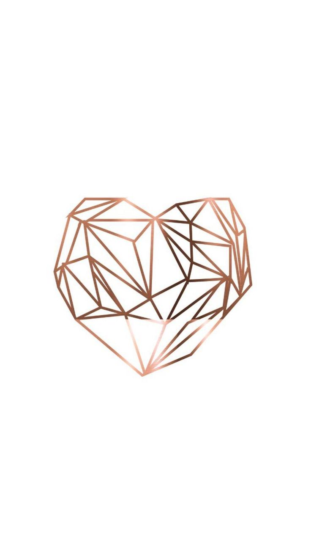 Wallpaper #Fondos de pantalla #Rose gold coração Imagens para customizações de caderno e agendas//Diy