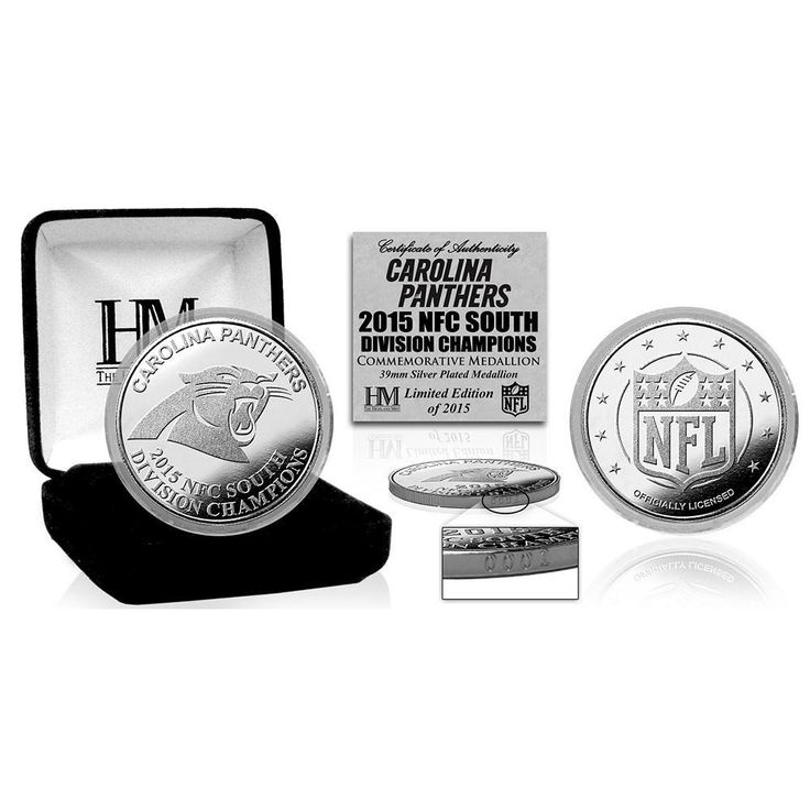 Carolina Panthers 2015 NFC South Division Champions Silver Mint Coin