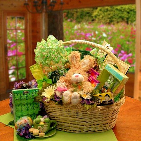 11 easter gift baskets pinterest spring into easter gift basket giveaway yum i want this one for myself negle Gallery