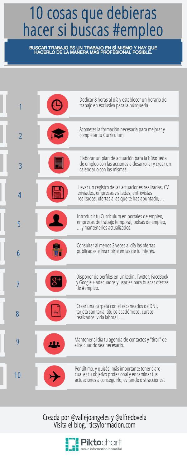 10 cosas que debieras hacer si buscas #empleo