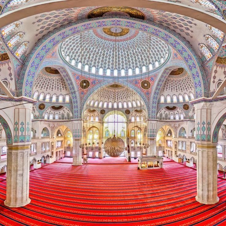 Inside the Kocatepe, Ankara, Turkey.