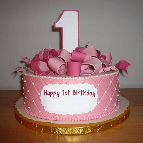 1st Birthday Wishes Cake For Girl With Name Make Everyones Special Cakes Pictures Age Number