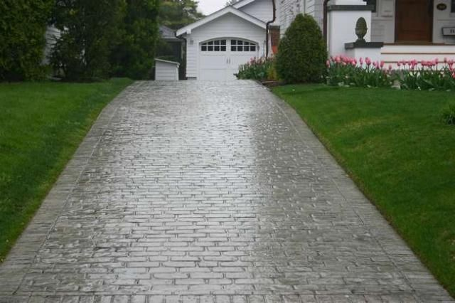 Cobblestone Stamped Concrete Stamped Concrete Old