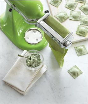 Kitchen Aid recipe for Ricotta and Spinach Ravioli (on Macy's website)