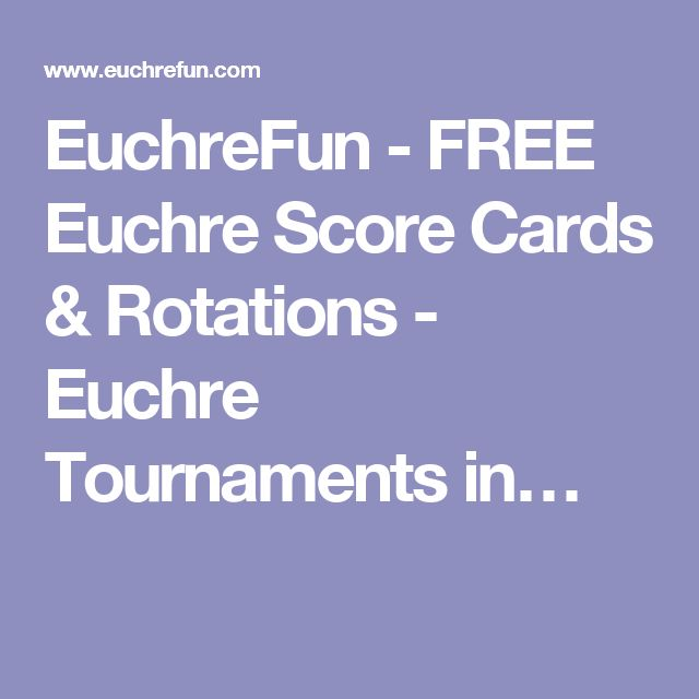 The 7 best Euchre Printables images on Pinterest Card games - euchre score card template