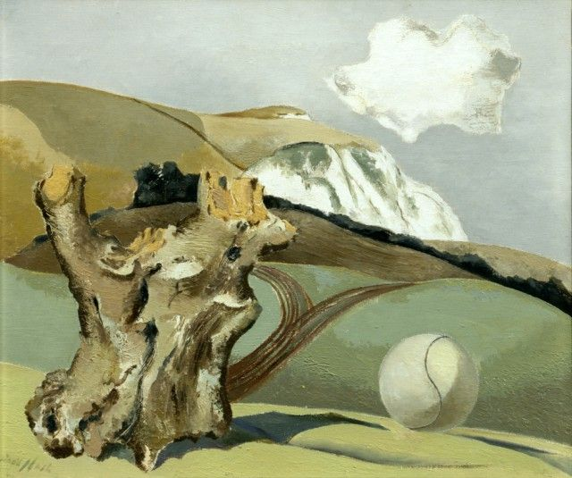 """Event on the Downs"" by Paul Nash, 1934"