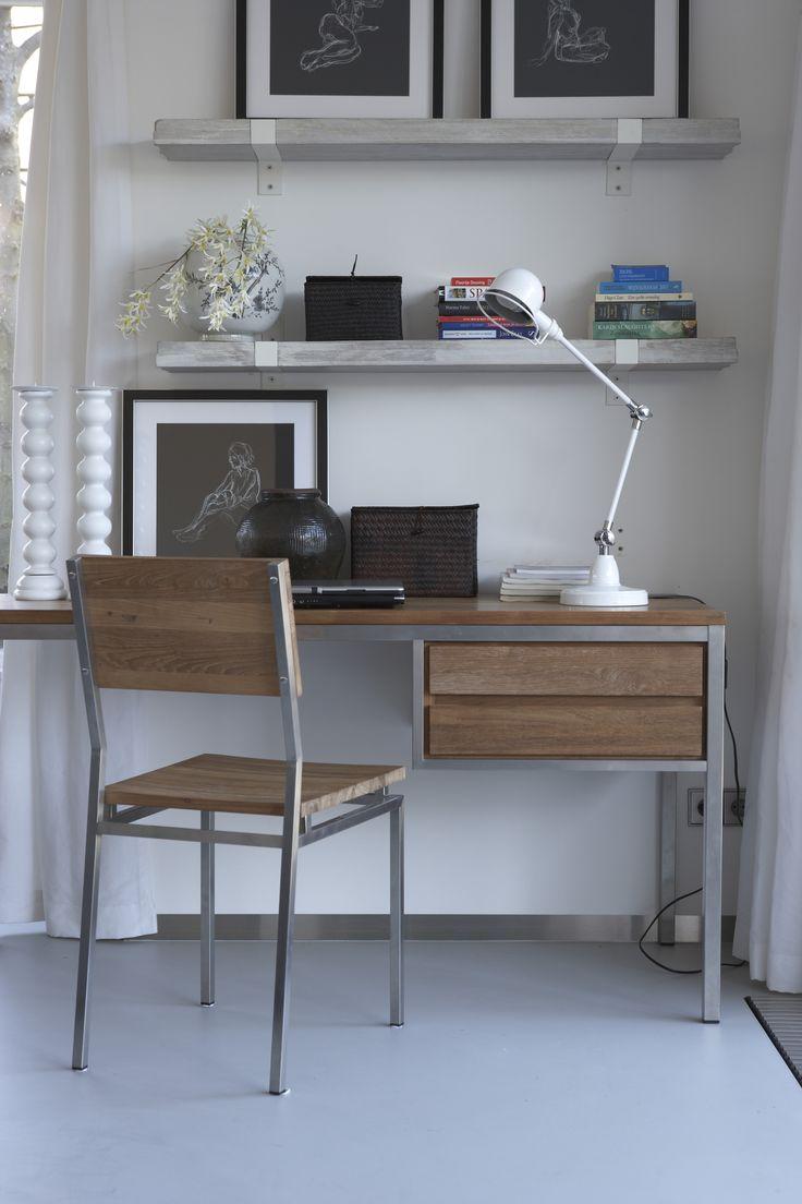 75 beste afbeeldingen over woonkamer werkplek op pinterest muur bureau moderne boekenplank en - Een kleine rechthoekige woonkamer geven ...