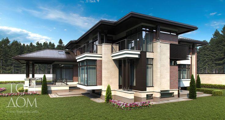 Архитектурный проект коттеджа с цокольным этажом – фото строительства, описание архитектуры и особенностей дома
