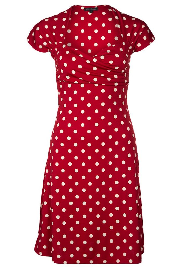 King Louie dress red with white dots