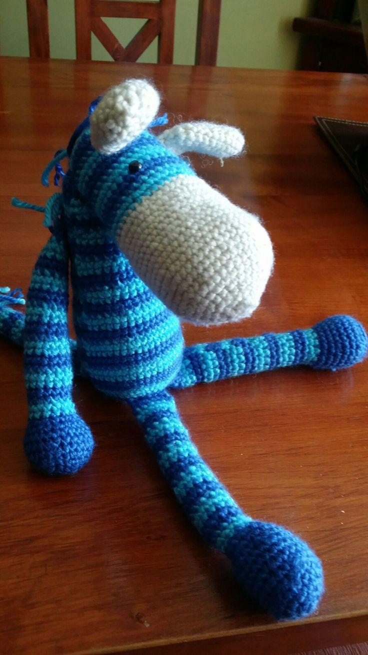 Una zebrita azulada