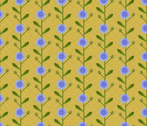 Chicory flowers fabric by mia_valdez on Spoonflower - custom fabric
