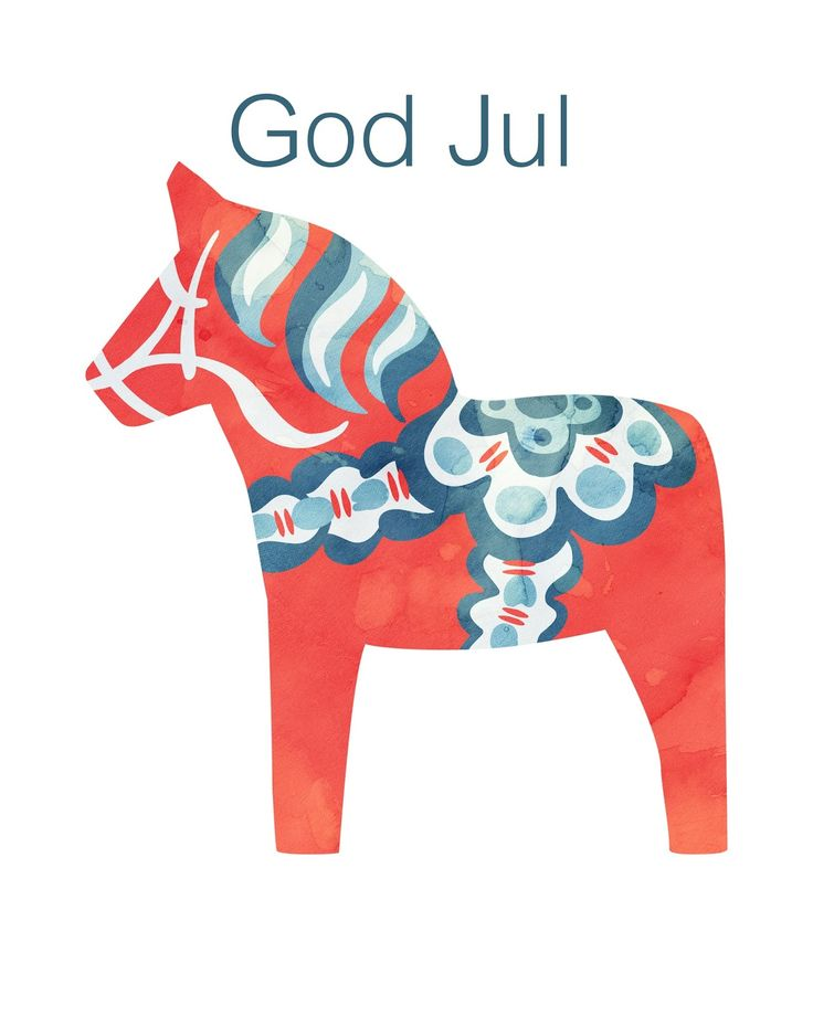 Free Dala Horse Print, God Jul