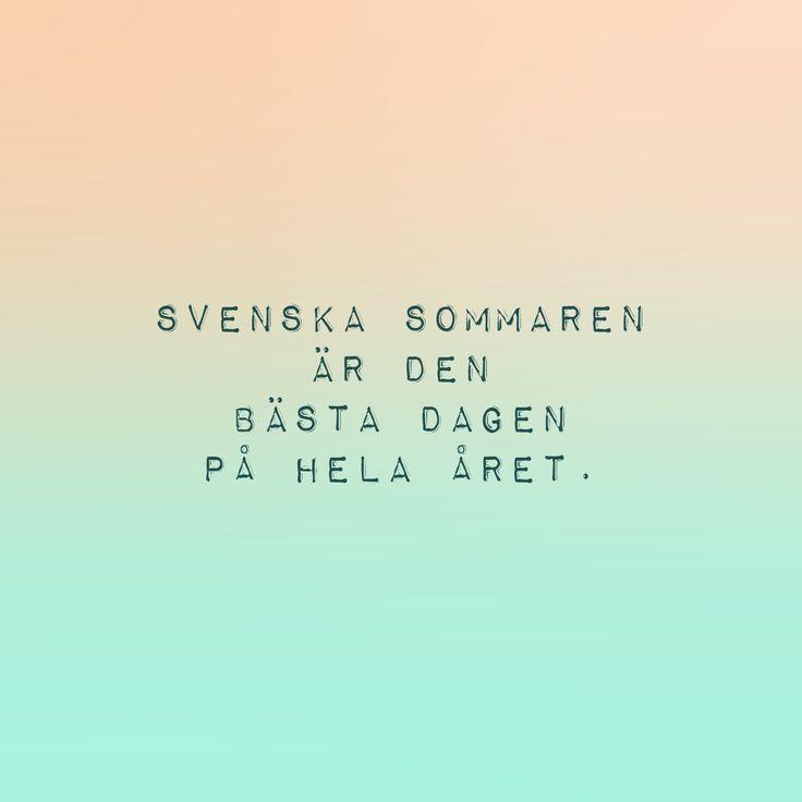svensk sommar.