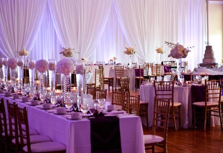 Elegant wedding reception decoration best wedding for Wedding hall decoration photos