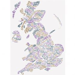 Literary Map of Britain and N. Ireland