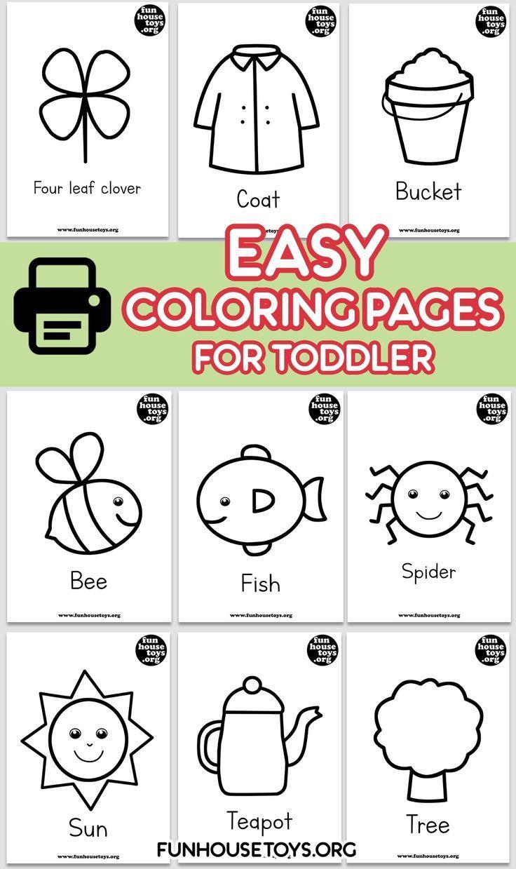 Easy Coloring Printables  Preschool coloring pages, Easy coloring
