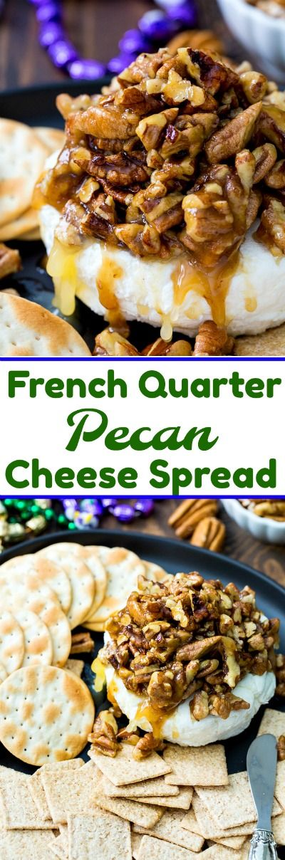 French Quarter Pecan Cheese Spread #MardiGras #appetizer