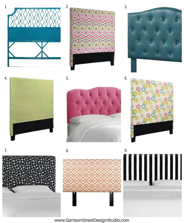 Friday Favs | Bold Headboards | Garrison Street Design Studio | Headboard Ideas | Upholstered Headboard | Leather Headboard | Fabric Headboard | Cheap Headboards | Queen | Unique | Easy | Colorful | Black & White Headboard | Teal Headboard | Wicker Headboard | Green Headboard | Pink Headboard | Orange Headboard | Creative | DIY | Bedroom Decor | Kids | Modern | Padded | Makeover | Velvet | Affordable